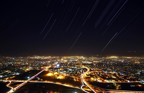 Star Trail over Tehran