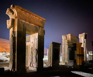 Persepolis at night
